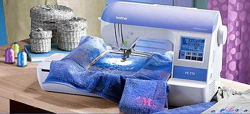 Brother PE770 Embroidery Machine With USB MemoryStick