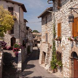 Street scene in Assisi, Italy