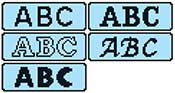 Brother SE400 built-in fonts